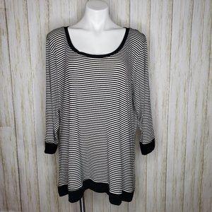 Torrid Stiped 3/4 Length Sleeved Shirt / Tunic